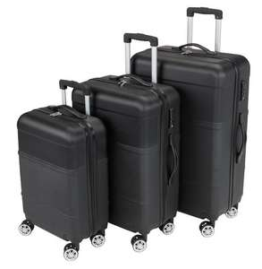 Koffer GUSTEN 3Stk/Set schwarz