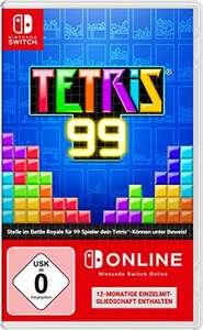 Tetris 99 + 12 Monate Nintendo Switch Online für 21,59€ (Amazon Prime)