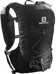 Salomon Agile 12 Set, Trinkrucksack mit 2x Soft Flasks 500ml, 390g, Trinkblase kompatibel, Trailrunning [Amazon]