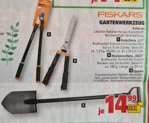 [Marktkauf/Edeka lokal evtl.bundesweit] Fiskars Gärtnerspaten (gehärtetes Blatt, ergonomisch) Astschere L11 / Heckenschere HS21 je 14,99€