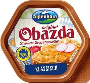 Edeka Hessenring: Alpenhain Obazda, z.B. mit Lauchzwiebel oder Camembert und natürlich auch das klassische Original, jeweils 125g Becher