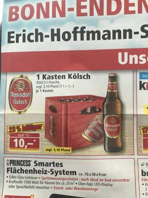 [Lokal Bonn] Reissdorf Kölsch zur Neueröffnung