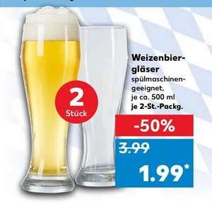 [Kaufland] Weizenbierglas Weißbierglas 500 ml im 2er Set