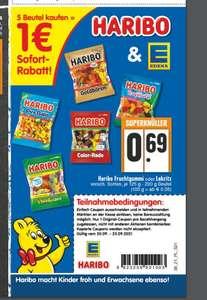 5x Haribo für 2,45€ mit Coupon bei Edeka Rhein Ruhr KW 38 ab dem 20.09.2021 - evtl. regional