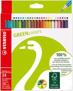 STABILO Buntstift - STABILO GREENcolors - 24er Pack mit 24 verschiedenen Farben für 4,49€ (Müller Abholung)