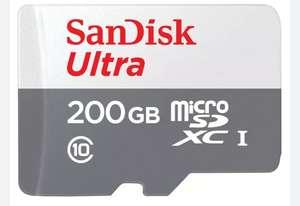 Sandisk Ultra Micro-SDXC 200GB (R100, A1, U1, Class 10) inkl. Adapter