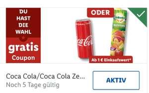 [Lidl Plus] gratis 0,33 Coca Cola, Zero, Mezzo Mix , Fanta Orange oder Multi ab 1 Euro - personalisiert