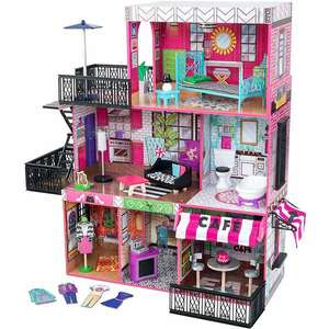 KidKraft Puppenhaus Brooklyn's Loft, 3 Ebenen, 6 Zimmer und 2 Außenbereiche, 25 tlg. Zubehör, 106 cm hoch   Kidkraft Rowan 71,39€ [Alza]