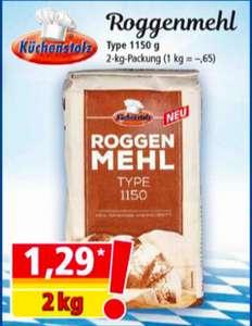 Küchenstolz Roggenmehl 1150 2kg Packung