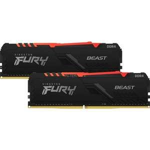 "Kingston Arbeitsspeicher FURY DIMM 16 GB DDR4-3200 Kit ""KF432C16BBAK2/16 Beast RGB"" (2 x 8GB)"