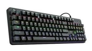TRUST GXT 863 Mazz Gaming-Tastatur [USB, mechanisch, Anti-Ghosting, Regenbogenwellenbeleuchtung, Deutsch]