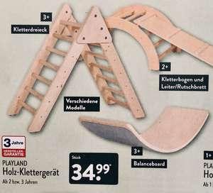 Kletterbogen & Leiter/Rutschbrett, Kletterdreieck, Balanceboard für jeweils 35€ ALDI Nord