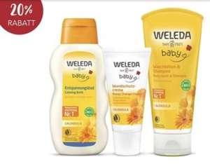 -20% auf Weleda Baby Calendula und Derma Weiße Malve Produkte bei Rossmann