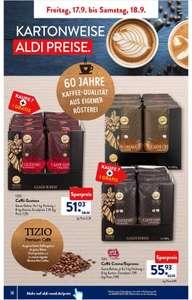 [Aldi Süd] Tizio Caffé Crema/Espresso, 8x1 Kg ganze Bohne, nur am 17./18.09.2021