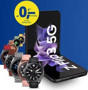 134€ Ersparnis vs. Einzelkauf: Samsung Galaxy Flip 3 + Galaxy Watch 3 LTE mit 1&1 Handyvertrag für insgesamt 1139,65€ vs. Idealo 1273,98€