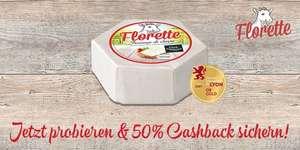 [GzG] 100 Prozent Cashback auf Florette Weichkäse / Le Brin Käse