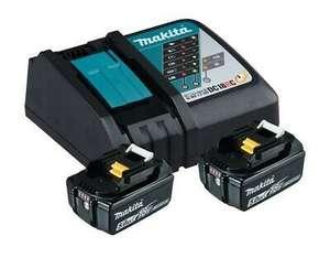 eBay: Makita Power Source Kit 18V 5,0 Ah Ladegerät DC 18 RC 2x BL1850B