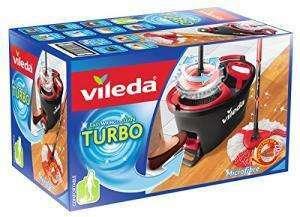 Vileda Turbo EasyWring & Clean Komplett-Set, Wischmop & Eimer mit PowerSchleuder für 23,99€ (Müller Abholung)