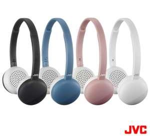 JVC kabellose On-Ear Bluetooth Kopfhörer schwarz mit 3 Tasten und angeblich bis zu 11 Std. Akkulaufzeit