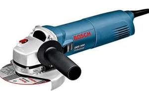 Bosch Professional Winkelschleifer GWS 1400, 1.400-W-Motor, 125 mm Scheiben-Ø, Schutzhaube, Spannmutter, Zweilochschlüssel (Prime)