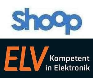 [Shoop] ELV Elektronik Versandhaus 6,5% Cashback + 10€ Shoop Gutschein + 5€ Newsletter Gutschein (kombinierbar) + Bonusaktion