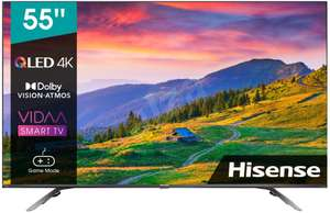 "Hisense 55E76GQ Fernseher (55"", UHD, VA + ""QLED"", Direct LED, 60Hz, 300-400cd/m², 3x HDMI 2.0, eARC, VRR, ALLM, ~20ms Input Lag)"