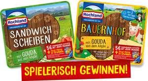 5€ Ravensburger Online Gutschein erhalten beim Kauf von 1x Hochland Sandwich Scheiben