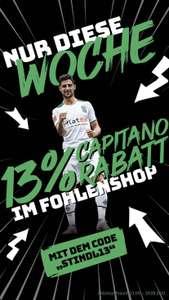 13% Capitano Rabatt im FohlenShop von Borussia Mönchengladbach