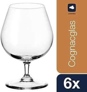Leonardo Ciao+ Cognac-Schwenker 6er Set [spülmaschinenfest, 40 ml Nutzinhalt, 400 ml Randvollvolumen] [Prime oder Abholstation]