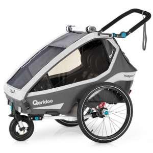 (Babymarkt) Fahrradanhänger Qeridoo Kidgoo 2 in grau und Speedkid 1 im Angebot
