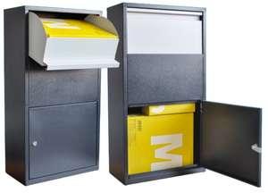 Briefkasten / Paketbox , pulverbeschichtet, rostfrei, verzinkt, Diebstahlschutz
