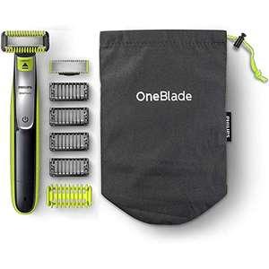 Philips OneBlade Face + Body QP2630/30, mit 2 Klingen (1x Gesicht, 1x Körper), 4 Trimmaufsätzen & 2 Körperaufsätzen für 35,99€ (Amazon)