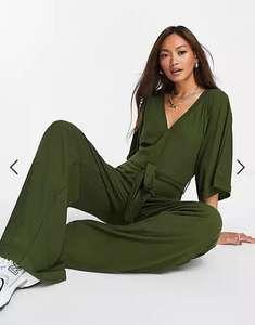 Unique21 Jumpsuit mit Kimono-Ärmeln in Khaki