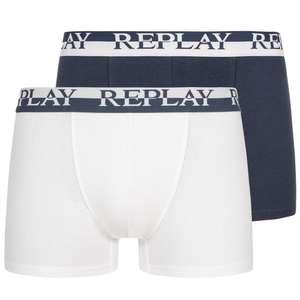 10x REPLAY Boxershorts (Größe S + M, 2.66€ pro Boxershorts) [SportSpar]