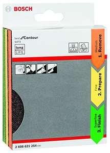 Bosch Professional 3tlg. Schleifschwamm S473 Best for Contour Set (Holz, Kunststoff und Metall, 98 x 120 x 13 mm) Prime