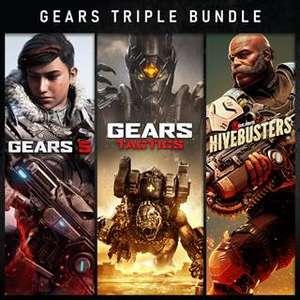 Gears Dreier-Bundle inkl. Gears 5 &, Gears Tactics & Gears 5: Schwarmtöter DLC (Xbox One/Xbox Series X|S & PC) für 17,34€ ISL (Xbox Store)