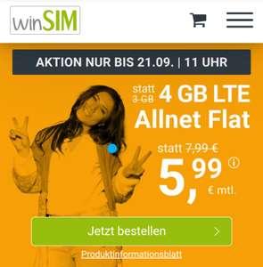 Winsim Drillisch Allnet flat 4GB LTE ohne Laufzeit