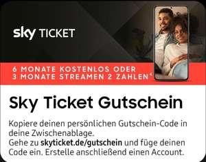 Samsung Member App | Sky Ticket (Entertainment + Cinema) 6 Monate kostenlos für Neukunden (Nur Samsung Modelle 2021 s. Deal)