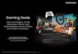 SAMSUNG Gaming Deals - Hol dir zwei Aktionsgeräte und du erhältst bis zu 1000€ Cashback.