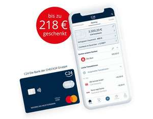Girokonto C24 mit 100 € Sonderprämie - 12 Monate ohne Kontoführungsgebühr statt 9,90€/mntl. + bis zu 10% Cashback (ggf. personalisiert)