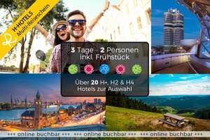 Multi-Reiseschein: 2 Nächte für 2 Personen inkl. Frühstück in einem von 21 H-Hotels / 3 Jahre gültig