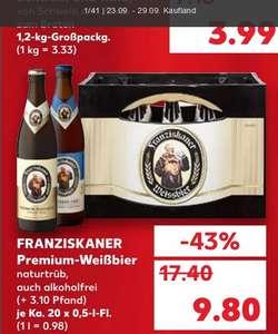[Kaufland] Franziskaner Weißbier verschiedene Sorten 20x 0,5L / Netto MD 9,99€ ab 20.09.