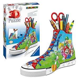 Ravensburger 3D Puzzle Sneaker Super Mario praktischer Stiftehalter im Super Mario Design für 12€ (Amazon Prime & Saturn Abholung)