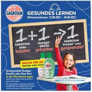 1 Sagrotan Seife kaufen + 1 Handgel gratis erhalten -> 1 Sagrotan Produkt wird gespendet - bei dm - noch mehr sparen mit Coupon