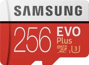 Samsung EVO Plus 2020 256GB microSD Speicherkarte UHS Class 3, 100 MB/s für 25€ mit Lieferflat