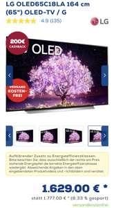 """LG OLED65C18LA 164 cm (65"""") OLED-TV / G mit 200€ Cashback"""