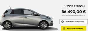 Privatleasing Renault ZOE INTENS R135 Z.E.50 cb 84€/M (eff 102€), 36 Monate GF=0,28 LF=0,23 6.000€ Anzahlung, Überführungskosten 650€