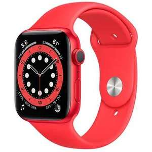 Outlet-Produkte des Apple Watch Series 6 Sport 44mm Rot (Silikon Sportarmband Rot)