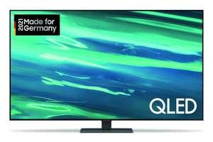 Samsung GQ75Q80AATXZG QLED TV (75 Zoll (189 cm), 4K UHD, Smart TV, Sprachsteuerung (Alexa, Google Assistant), Aufnahmefunktion, UHD Dimming