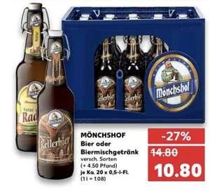 Mönchshof Bier in verschiedenen Sorten